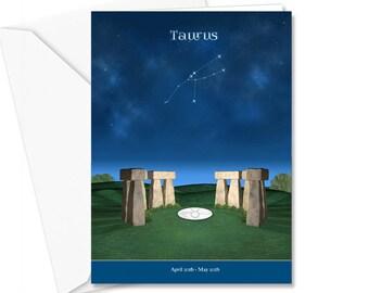 Taurus Birthday Card, mystical item, greeting card, birthday wishes, Taurus constellation, astrology, metaphysical gifts, horoscope