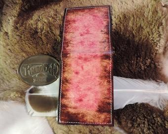 Traditional Mans Billfold- Hand rubbed 2 tone dye finish-Handmade in Kentucky