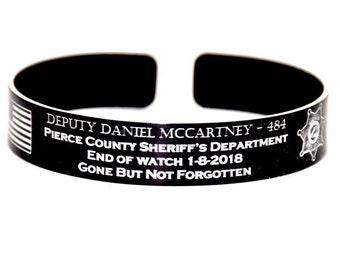 Deputy McCartney Memorial Bracelet / Pierce County Sheriff's Dept.