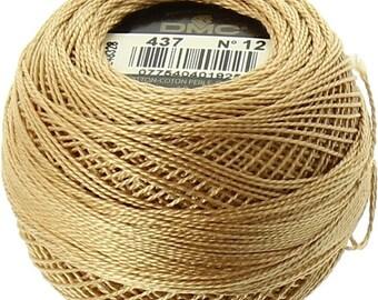 DMC 437 Perle Cotton Thread | Size 12 | Light Tan
