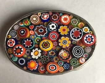 Millefiori Small Oval Buckle
