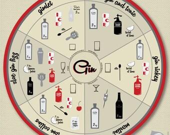 Gin Drinks Archival Print
