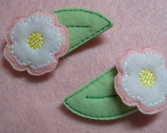 Flower Feltie Clippies , Clippie sale  4 sets for 10.00 or 8 singles You Choose