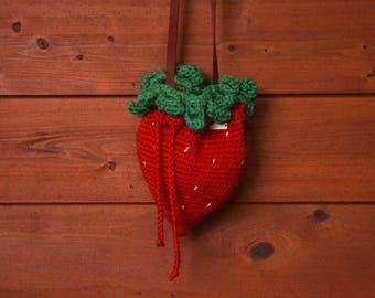 Strawberry Crochet Bag