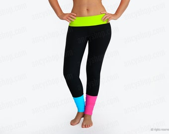 Multicolor Long Leggings and Designer Colorful Yoga Pants that is ideal for Indoor or Outdoor Workout you will feel so good