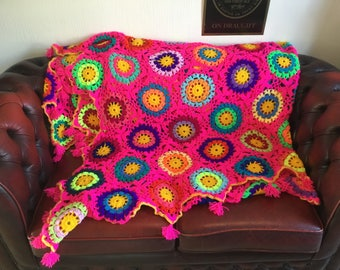 Made to order !! Hand crochet blankets of any size colour and design please message for details
