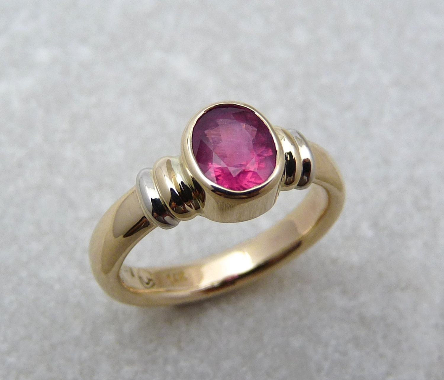 tourmaline sterling center p plated amethyst and silver rose pink over in ring rings stone gold
