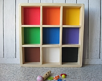 Montessori Inspired Rainbow  Sorting Color  Box, Educational Toy for preschoolers , box  for  trinkets
