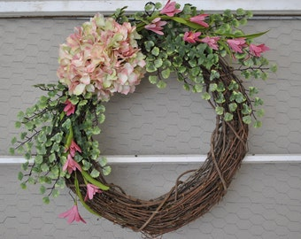 Spring Wreath | Spring Hydrangea Wreath | Spring Front Door
