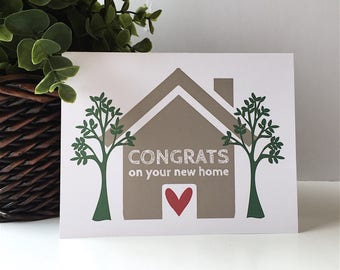 Congrats on your new home - Congratulations on new house - Happy new home - Congrats - Congratulations - Moving Card - Welcome Home