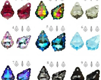 6090 Swarovski Baroque 22mm x 15mm Swarovski Crystals perfect for earwires and pendants