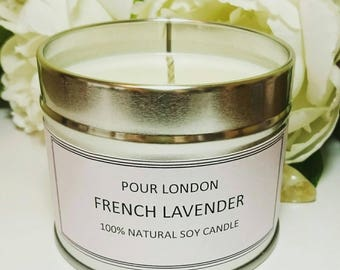 French Lavender Soy wax scented candle