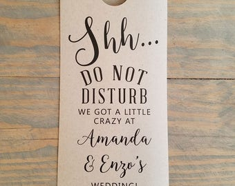 Do not disturb wedding door hangers, door hangers wedding, hotel door hangers, wedding sign, guest room hanger, rustic wedding sign, RC17002