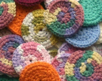 Mini Facial Scrubbies -- Set of 10