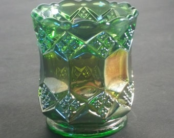 Imperial Glass Toothpick holder Green in Mint Condition