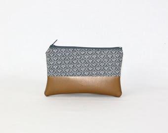 Mini bag - copper retro, bag, cosmetic bag, purse, make-up bag, vegan, minimalist, pouch, pencil case,