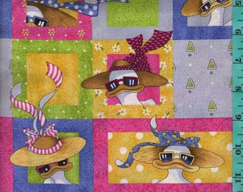 Mitzy the Duck, Quilt or Craft Fabric, Fabric