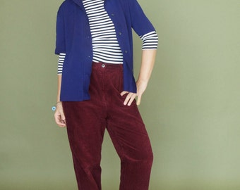 Dijolen LOFT boyfriend shirt Vintage oversized shirt Menswear shirt Unisex blazer shirt 60-70s mens shirt Paris blue button shirt