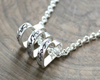 Personalized Dainty Heart Necklace, Sterling Silver Mother's Necklace, Custom Family Necklace, Personalized Family Necklace - Rikee Necklace