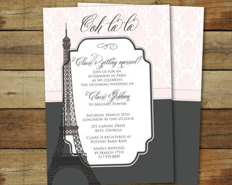 Paris bridal shower etsy paris bridal shower wedding shower invitation eiffel tower shower invite paris themed shower filmwisefo