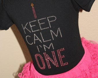 Keep Calm I'm (my age) BIRTHDAY candle rhinestud tee by 1286 Kids (formerly known as Daisy Creek Designs)