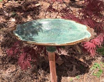 Colorful Oval Bird Bath or Feeder