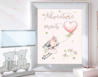 Nursery Wall Art, Christmas gift baby, Baby Girl, Baby Decor, Baby Nursery, Nursery Decor, Nursery Wall Art, Pink Nursery, N103