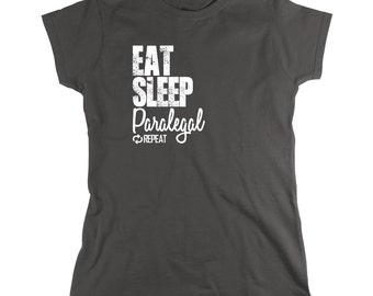 Eat Sleep Paralegal Repeat Shirt, law career, law student - ID: 851