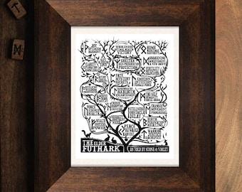 The Elder Futhark - Art Print
