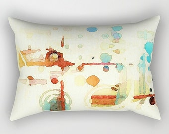 Lumbar Pillow, Watercolor Pillow, Throw Pillow, Art Pillow, Accent Pillow, Modern Pillow, Couch Pillow, Art Throw Pillow, Abstract Pillow