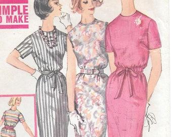 Bust 40-1960's Misses' Dress Simplicity 3780 Size 20