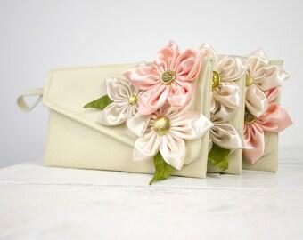 Set of 3 bridesmaid clutches Wedding Gift Purse Personalized Bridesmaid Gift | Blush purse | Blush clutch