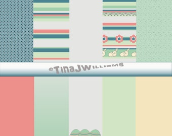 Easter Collection of 10 digital backgrounds 12x12 for crafters, scrapbookers, card makers and creatives everywhere