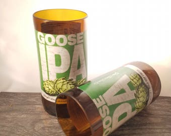 Goose Island IPA Beer Bottle Drinking Glass single, or a set