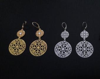 Rose - gold or Silver earrings