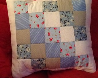 Hand made vintage style print cushion