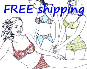 LINGERIE Pattern MIX30 with Bra Panty & French knickers : FREE Shipping by Merckwaerdigh