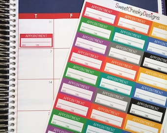 Appointment Stickers!  Perfect for Erin Condren Life Planner, MAMBI/Happy Planner, Plum Planner, Etc.