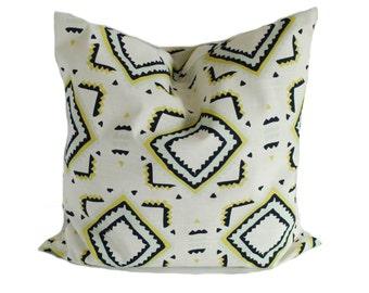 Sale!!!, Blue throw pillow, 20x20, Pillow cover, Decorative pillow, Accent pillow, Sofa cushion, Blue pillow, Yellow pillow, Clearance