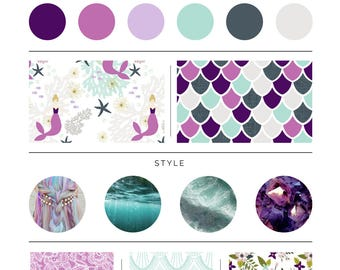 Laguna Mermaid Bedding. Baby Bedding. Mermaid Baby Bedding. Purple Mermaid Baby Bedding. Crib Sheet. Crib Skirt. Mermaid Nursery.