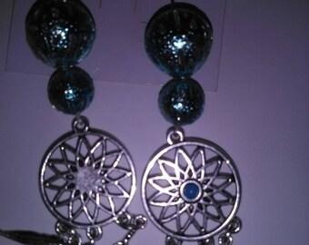 pair of turquoise earrings
