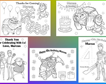 Troll Hunters Birthday Party Favor, Troll Hunters coloring pages, PDF file