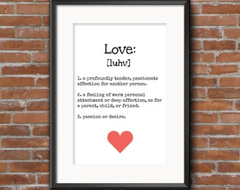 Digital poster. 'The meaning of Love'. Direct downolad.
