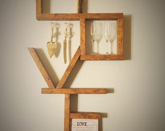 Wooden Love Shelf, Love Sign