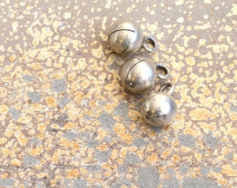 Karen Hill Tribe Silver Bell 8mm Silver Bell Karen Silver Bell Silver Jingle Bell Charm Handmade Silver Jewelry Supplies  One, AL17-1208A