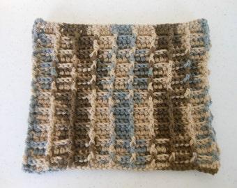 Crochet Basketweave Dishcloth