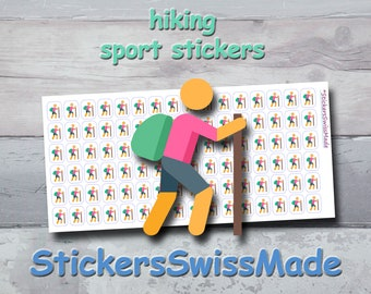 PLANNER STICKER || hiker| trekking || sport || small colored icon | for your planner or bullet journal