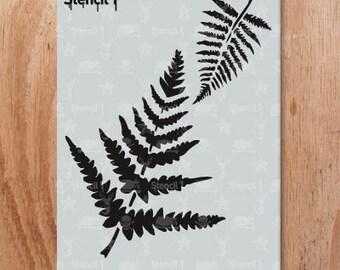 Fern Stencil- Reusable Crafts & DIY Stencils- S1_01_110 -8.5x11- By Stencil1
