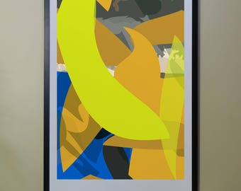 "Abstract Composition: Aspen_03_01b - Contemporary Art - Abstract Design - 26"" x 46"" and 13"" x 19"" - Limited Edition Print"