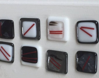 Modern Fused Glass Cabinet Pulls